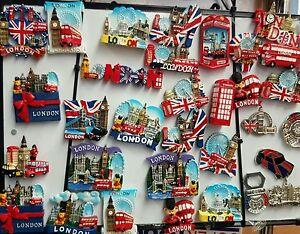 I LOVE LONDON,ENGLAND,UNION JACK CERAMIC FRIDGE-MAGNET ENGLAND SOUVENIRS