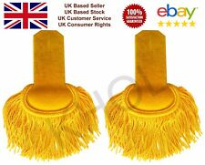 Gold Yellow Silk Shoulder Epaulettes Marching Band Epaulette With Button Hole