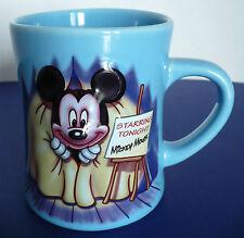 Disney Starring Tonight Mickey Mouse Raised 3D Light Blue Coffee Mug