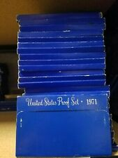 (10) 1971-S US Mint Proof Sets Coin Collection Dealer Lot w/ Box