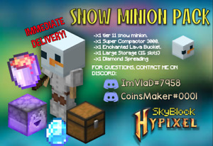 Snow Minion Pack Skyblock Hypixel - Best price!💰