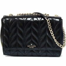 Kate Spade Briar Lane Quilted Patent Emelyn Chain Shoulder Bag Crossbody