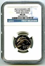 2013 CANADA LIFE IN THE NORTH ORCA WHALE QUARTER NGC MS68 FIRST RELEASES POP=14