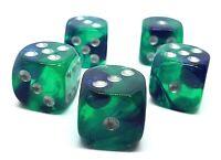 5 RPG Würfel Spiel Kniffel Yahtzee  W6 16mm dice4friends DSA Galaxy Glitter bunt