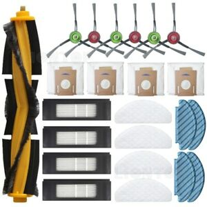 For Ecovacs Deebot Ozmo T8 Filters Brush Mop Cloth Set Vacuum Cleaners Parts