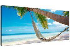 Blue Modern Canvas Picture of Beach Thailand  - 120cm x 50cm - 1039