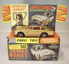 Corgi Toys 261 James Bond Aston Martin DB5 gold in crisp Box - Original 1965 !!