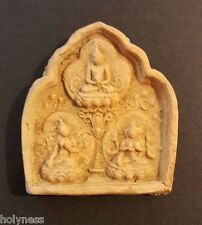 ANTIQUE TIBET BUDDHA CLAY AMULET 1200-1500 AD / RARE / #1