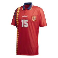 Adidas Originals HOMBRE España 1994 Jersey Rojo Fútbol Mundo Taza Retro Nuevo
