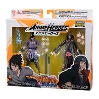 Bandia Anime Heroes Naruto Shippuden EE Exclusive Sasuke Itachi Set NEW IN STOCK