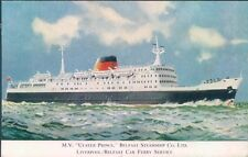 Postcard Shipping M.V Ulster Prince Belfast Steamship Co.Ltd  Unposted