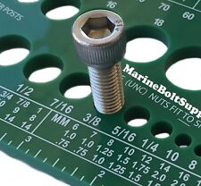Screw Bolt Nut Thread Measure Gauge Size Checker (Standard & Metric) Color Green