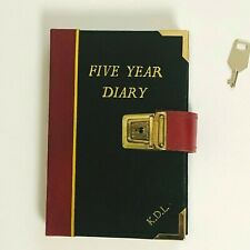 Vintage Five year Diary With Lock Key Leather