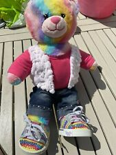 Build A Bear Rainbow Teddy & Outfit