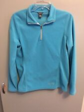 Eddie Bauer Women's 1/4 Zip Fleece Pullover Jacket Light Blue Size Medium