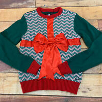 American Stitch Womens Ugly Christmas Sweater Holiday New Bow Size Large NWT