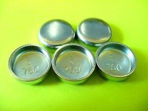 "Fits GM 5pk 3/4"" Freeze Expansion Plugs Zinc Plated Steel Engine Cylinder NOS"