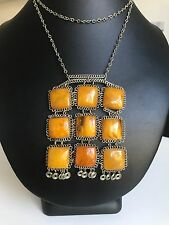 Old Yellow color Baltic Amber necklace (23.6 g.) 326E