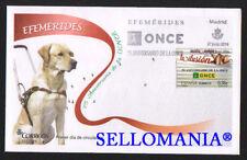 2014 75 ANIVERSARIO DE ONCE EDIFIL 4895 SPD FDC CIEGOS BLIND DOG PERRO   TC20681