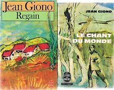 JEAN GIONO Le chant du monde + Regain + PARIS POSTER GUIDE
