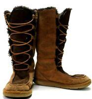 "UGG Australia Womens Size 6 ""Whitley"" 5230 Sheepskin Leather Laceup Boots EUC"