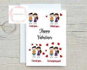Valentines Day Card Husband Wife Boyfriend Girlfriend Partner Valentine's Story