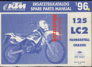 KTM LC2 125 (1996) Genuine Spare Parts Manual List CHASSIS Factory Issue BJ59
