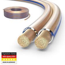 10m HiFi Boxen Lautsprecher kabel 2 x 4,0mm² 99,9% OFC Vollkupfer 0,10mm Litze