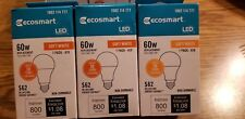 (3 Bulbs) 9W = 60W Equivalent 2700K Soft White A19 Non-Dimmable LED Light Bulb