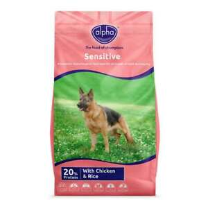 Alpha Sensitive Chicken and Rice Dry Dog Food - 15kg