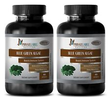 Fat loss products - ORGANIC BLUE GREEN ALGAE 500mg - weight loss tea - 2 Bottles
