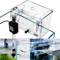Fish Tank Breeding Hatchery Incubator Breeder Isolation Hang Box Pump 2