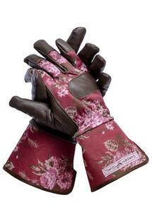 GARDENGIRL Winterhandschuh Classic Cherry  LEDER -Handschuhe Gärtnerbedarf WWG22