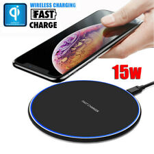 15W Fast Qi Wireless Charger Charging Dock For iPhone 8 Plus XS Max Samsung S10