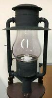 Antique Dietz No. 3 Globe Tubular Kerosene/Oil Street Lamp Lantern