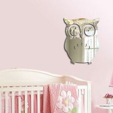 Cartoon 3D Owl Silver Mirror Vinyl Removable Wall Sticker Decal Bedroom Decor