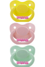 Adult Pacifier Triple Pack - Yellow, Baby Pink & Mint Green | ABDL DDLG