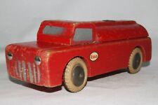 1950's Brio? Tekno Wooden Esso Gasoline Tanker Truck, Nice Original
