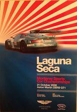 Aston Martin DBR9 GT1 Laguna Seca Monterey Oct 2006 Event Rare Car Poster:>)