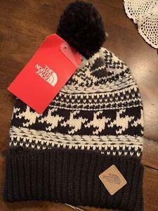 The North Face Fair Isle Beanie Toboggan Cute Warm Knit NWT