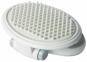 Pet Life ® 'Gyrater' Swivel Travel Silicone Massage Grooming Cat Brush
