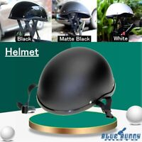 Low Profile Novelty German Style Motorcycle Half Helmet ABS Cruiser Biker Unisex