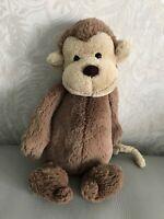 "Jellycat Medium 12"" Bashful Monkey Soft Toy Plush brown chimp plush JELLY3252"
