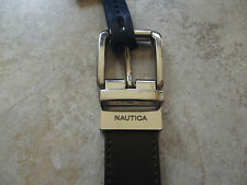 Nautica Boys Casual Reversible Leather Belt Brown/Green size 30 Nwt 6445
