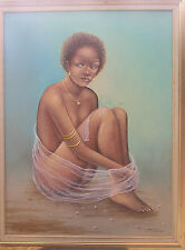 Stunning Nude by Late Haitian Master Moab Poliddor