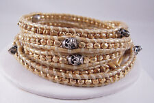 with Sterling Silver Skulls Wrap Chan Luu Gold on Gold