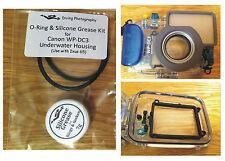 O-ring & Kit De Grasa de silicona para buceo carcasa submarina caso Canon WP-DC3