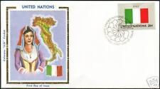 Italy Itali National Woman Costume Flag Map UN FDC 1984
