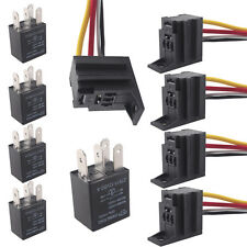 DC 5Pack Car 30A AMP 12V Relay Kit For Fan Fuel Pump Light Horn 4Pin 4 Wire SPST