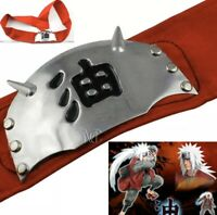 "Naruto Red Jiraiya Pervy Sage Shinobi Headband 37"" Anime 4"" x 2.1"" US Seller"